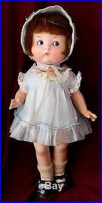 11 Antique Bisque head Just Me Googly Doll A 5/0 M 510 Organdy clothes FAB
