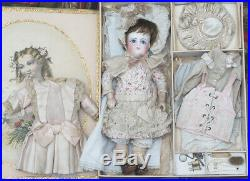 12 Antique French All Original Bisque Bebe Doll by Schmitt & Fils in Box