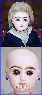 13 1/2 Antique French Tiny All Original Jumeau doll size 4 in Mariner Costume