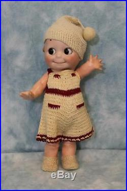 13 1913 Antique German Bisque Kestner Kewpie Doll Glass Eyed Googly Compo. Body
