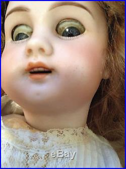 13.5 Antique Jumeau Open Mouth French Bisque Doll With extras