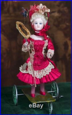 13 Antique French All original Mechanical Toy by Gustav Vichy Gaultier doll