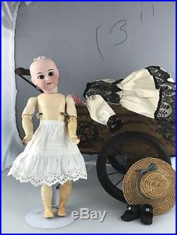 13 Antique French Bisque Head Doll Marked 5 h Beautiful Portrait Doll