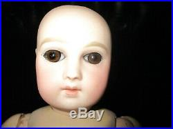13 Antique Portrait Jumeau Doll, Marked 8 Ball Body AS IS