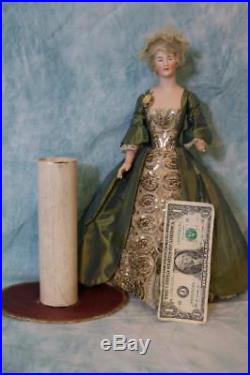 14-1/2 Antique German bisque Half Doll Candy Container Sophisticated Lady doll