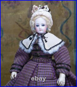 14 Antique French All original Fashion Poupee Doll by Gaultier with Wooden Body