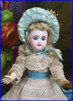 14 Antique French Doll with Closed Mouth by Gaultier Freres in Appealing Size