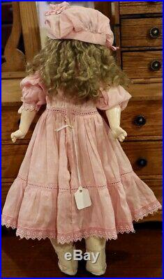 14 Antique German Bisque Sonneberg Doll withOriginal Body, Perfect withGreat Outfit