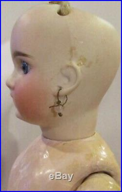 14 Antique Sonneberg Bisque Closed Mouth Belton Doll Marked 183