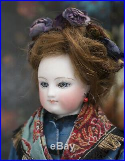 15 1/2 Antique French Early Gaultier Fashion Lady Doll in original costume