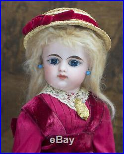 15 (38cm) Antique French Eden bebe doll by Gaultier with closed mouth, c. 1888