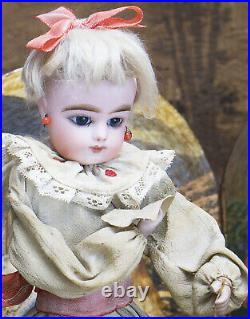 15 Antique French Musical Automaton Gaultier Doll with Polichinelle by Renou