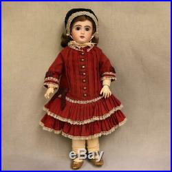 15 Inch Antique Jumeau French Bisque Doll c. 1900 Beautiful Outfit Sweet Size