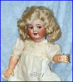 16 Antique German Bisque Flirty Eye Doll Kr 126 Jointed Toddler C. 1910