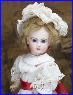 17 (43 cm.) ANTIQUE FRENCH BEAUTIFUL BISQUE BEBE E. J. DOLL BY EMILE JUMEAU