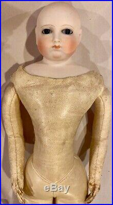 17 Antique French Rare Rohmer Poupee Peau withFabulous Outfit, Perfect Bisque