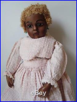 17 Antique Reproduction French Bru Jne BLACK BISQUE Doll by MARIANNE Jumeau