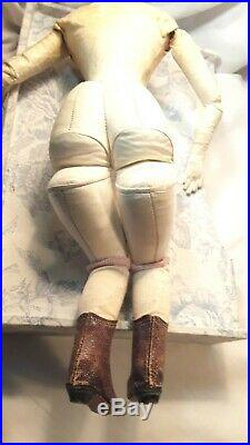 17 Antique Young Early French Fashion Doll, Beautiful Early Light Bisque