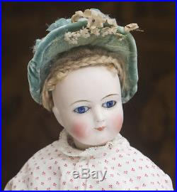 17in (43cm) Antique French Fashion Doll with bisque hands & legs, in original dres