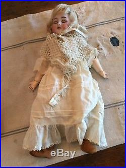 18 ANTIQUE EARLY 1900's GERMAN BISQUE DOLL