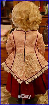 18 Antique Doll French Bisque Bebe by C1885 Rabery Delphieu RD withOrig Body