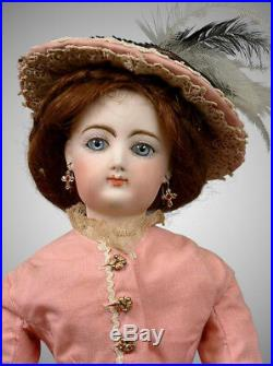 18 Francois Gaultier Antique Doll Kid Over Wood Body Poupee in Antique Costume