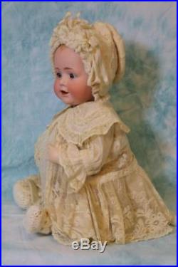 18 Inch Antique Kestner Baby Jean Solid Dome German Bisque Character Doll c. 1900