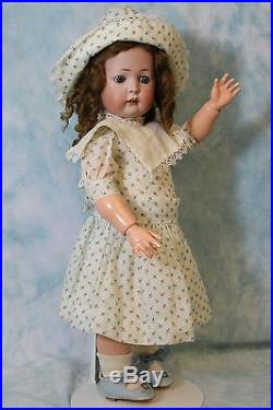 18 antique KW 1070 German bisque character doll Ball jtd slant hip toddler body