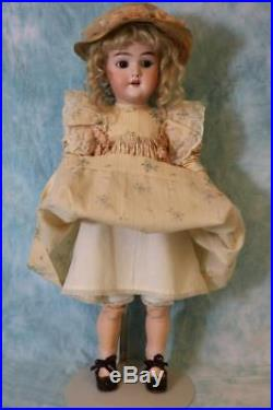 19 inch German Bisque Character Handwerck Doll #119 Antique Nice Dress & Shoes