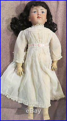 20 Antique Closed Mouth French Bisque Mystery Character Doll withOutfit Perfect