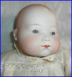 20 KiddieJoy AM Bisque Head Baby Doll Cloth Body with Celluloid Hands # 3 5