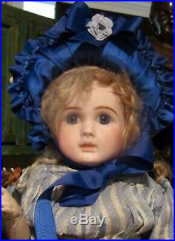 21 Antique Doll French Bisque Bebe by Steiner with Original Body