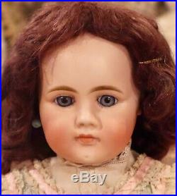 21 Antique Gebruder Kuhnlenz 32-29 Very RARE Bisque Closed Mouth Doll