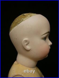 22 Antiq German Closed Mouth Kestner Doll Incised only 14, Squared-Cheek