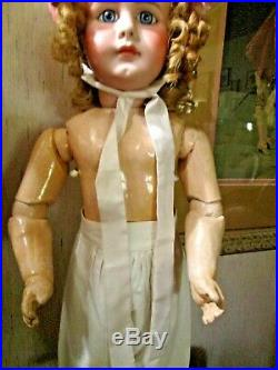22 Rare Early Simon Halbig 949 Close Mouth P/w Eyes Early Body