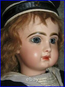22 Tete JumeauClosed MouthBlue Pwt EyesSigned Head & BodyFrench Bisque Doll