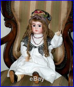 23 Antique A SERIES BEBE STEINER French Bisque Doll CLOSED MOUTH RARE C. 1889