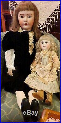 23 Antique Doll French Bisque Bebe by Schmitt et Fils with Original Signed Body