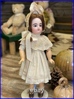 23 Francois Gaultier FG Scroll French Bisque Antique Doll'Chloé' c. 1895
