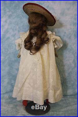 23 Inch Antique German Bisque Solid Dome Doll is an ABG c. 1890 Closed Mouth