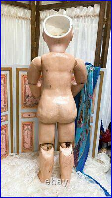 25 Antique French Tete Jumeau Size 12 Stamped Body Gorgeous Costume c. 1890