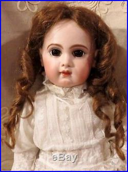 26 Antique French Bisque Brown-Eyed Bebe E. J. By Emile Jumeau withStraight Wrists