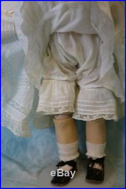 27 Inch Simon and Halbig 949 Closed Mouth German Character Doll Antique Clothing