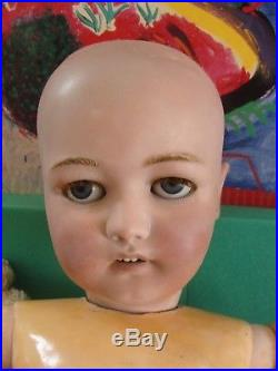 32 Antique German Simon & Halbig 1079 Doll, Bisque Head Ball Jointed Compo Body
