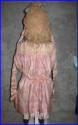 34 Steiner Figure A French Bebe Doll, Couturier Dress & Bonnet, Perfect Bisque