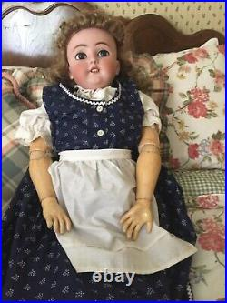 36 inch antique doll by Simon Halbig Doll Co. Circa 1900-1920bisque socket head