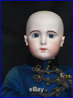 36extraordinary French Bisque Jumeau Triste Size 16, Blue-eyed A/o Antique Doll