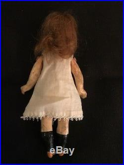 5 3/4 Antique Bisque Head Doll with Composition Body