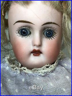 6.5 Antique S Star H Not Sure Germany Bisque Compo Body Original Wig #SF2