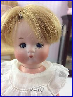 9 Antique German Fired Bisque Head Doll AM JUST ME! Composition Body